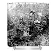Klondike Gold Rush Miners  1897 Shower Curtain