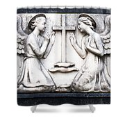 Kneeling Angels Monumental Cemetery Milan Italy Shower Curtain