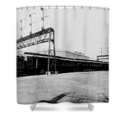Knickerbocker Special Leaving St. Louis Union Station Shower Curtain by Georgia Fowler