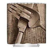 Knife And Fork Shower Curtain
