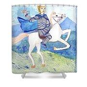 Knight Of Swords Shower Curtain