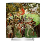 Knights Assembling, From Sir Nigel Shower Curtain