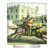 Knights Jousting Shower Curtain
