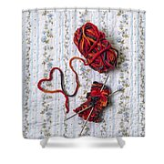 Knitted With Love Shower Curtain