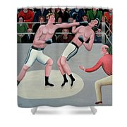 Knock Out Shower Curtain by Jerzy Marek