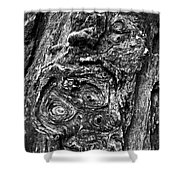 Knots And Swirls Bw Shower Curtain