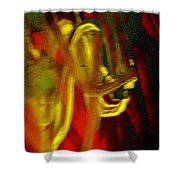 Knotted Silence Shower Curtain