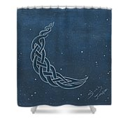 The Knotty Moon Shower Curtain