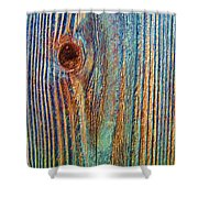 Knotty Plank #3b Shower Curtain