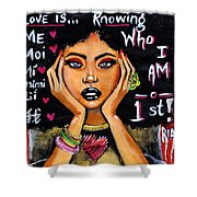 Know Yourself Shower Curtain