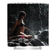 Knowledge. Anna At Eureka Waterfalls. Mauritius Shower Curtain