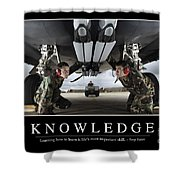 Knowledge Inspirational Quote Shower Curtain