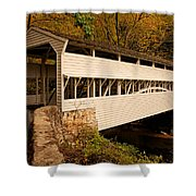 Knox Bridge In Autumn Shower Curtain