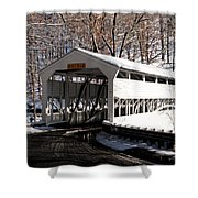 Knox Bridge In The Snow Shower Curtain