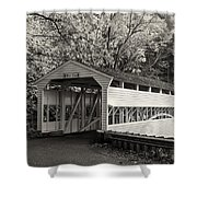 Knox Covered Bridge In Sepia Shower Curtain