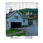 Knox Quarters Stable Shower Curtain