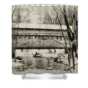 Knox Valley Forge Covered Bridge Shower Curtain