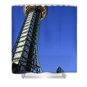 Knoxville Sunsphere Perspective Shower Curtain