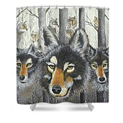 Knoxville Wolves Shower Curtain