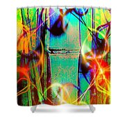 Knuckle And Smoke Shower Curtain