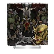 Kobold Throne Room Shower Curtain
