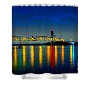 Kodachrome Bridge Shower Curtain