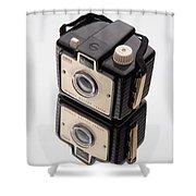 Kodak Brownie Bullet Camera Mirror Image Shower Curtain