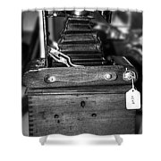 Kodak Folding Autographic Brownie 2-a Black And White Shower Curtain by Kaye Menner