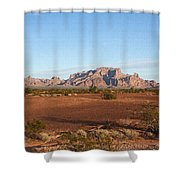 Kofa Mountains With Wild Palm Trees Shower Curtain