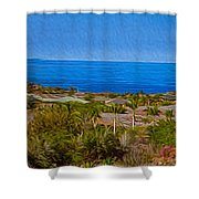 Kohala Coast Panorama Shower Curtain