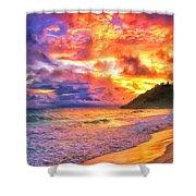 Kohala Sunset Shower Curtain