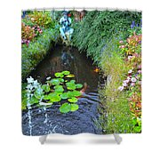 Koi Fountain Shower Curtain