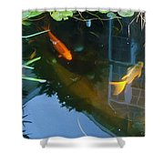 Koi - Oil Painting Effect Shower Curtain