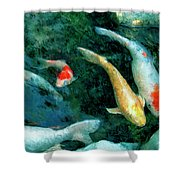 Koi Pond 2 Shower Curtain