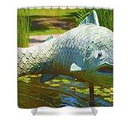 Koi Pond Fish Santa Barbara Shower Curtain by Barbara Snyder