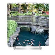Koi Pond In Senso-ji Temple Grounds Shower Curtain