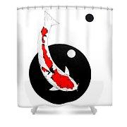 Koi Sanke Circles Nishikoi Painting Shower Curtain
