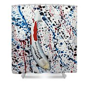 Koi Shusui Splash Shower Curtain