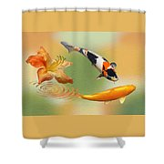 Koi With Azalea Ripples Dreamscape Shower Curtain