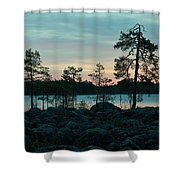 Koirajarvi Dawn Shower Curtain