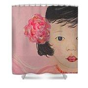 Kokoa Little Angel For Love Of The Heart Shower Curtain