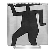 Kokogyptian In Black And White2 Shower Curtain