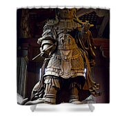 Komokuten Guardian King - Nara Japan Shower Curtain
