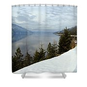 Kootenay Paradise Shower Curtain by Leone Lund