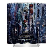Korcula - Old Town - Croatia Shower Curtain