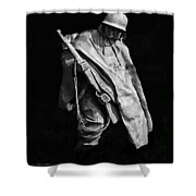 Korean War Veterans Memorial Rifleman Shower Curtain