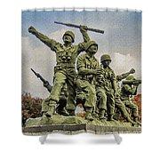 Korean War Veterans Memorial South Korea Shower Curtain