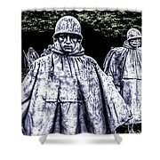 Korean War Veterans Memorial Washington Shower Curtain