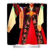 Korean Woman Dancer Shower Curtain