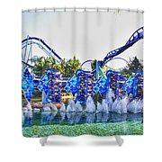 Kraken Dunk Shower Curtain